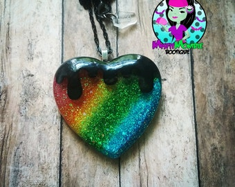 Drippy Rainbow Necklace