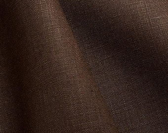 100% linen - Cannes - color Brown fabric