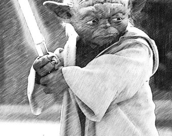 Star Wars - Yoda Print