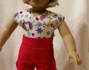 Red High Waist Shorts for 18 inch Dolls