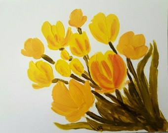 Bunch of Tulips set of 3 Greeting cards
