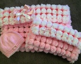 Handmade PomPom Blankets