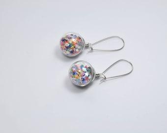 """Earrings """"Bubble of stars"""""""