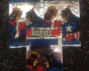 Marvel vs. Wildstorm - 3 Sealed Trading Card Pack Lot by Fleer