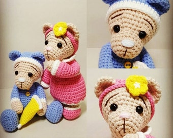 amigurumi crochet pattern Sleepy bear