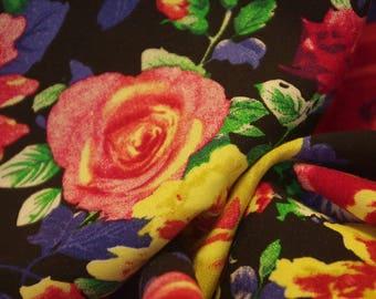 Multicolour Rose Print Viscose