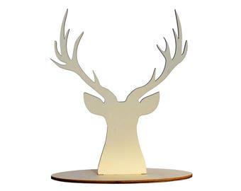 Reindeer bijoux stand x1, Jewellery stand reindeer, Jewellery organiser deer, Bijoux reindeer display laser wood lasercut - SET 1 reindeer
