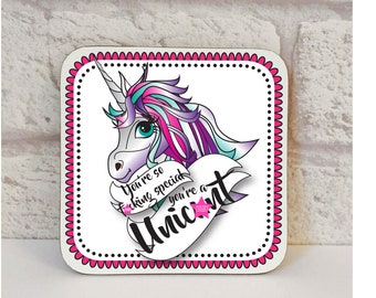 Unicorn Coaster, Unic*nt Coaster, Birthday Coasters, Swear Gift, Novelty Gift, Novelty Coaster, Drink Coaster, Swear Gift