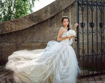 Tulle Bridal Skirt. Wedding Skirt. Bridal Separates. Wedding Tulle Skirt. Full Circle Tulle Skirt. Princess Wedding Skirt. Tulle Long Skirt.