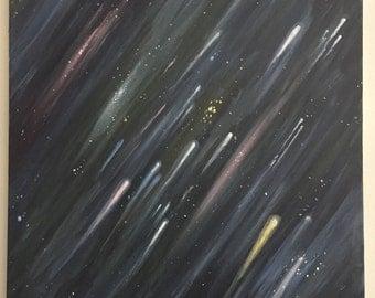 "Star stream painting  17"" x 20"""