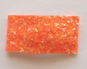 Tangerine glitter snap clip OR alligator clip