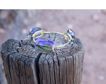 Purple Mermaid Shimmer Gold Bangle