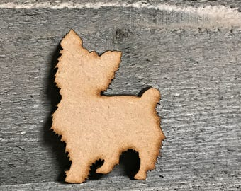 Yorkie laser cut out/Yorkie shapes/Yorkie/Yorkie dog/Embellishments/craft supplies/Wood/Laser cut/Diy/Diy crafts/Wood Shapes/Shapes