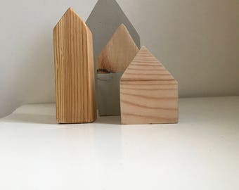 Scandinavian Wooden ornamental houses
