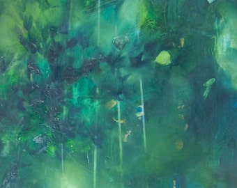 Abstract art / Oil on canvas - Title : Ethereal (Landscape)