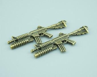 10pcs 63x23mm Antique Bronze Gun Charm Pendants,Weapon Charm Pendants Z28076