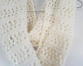Ladies cream cowl handmade