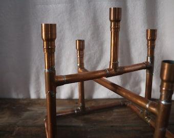 Artisan Copper Candlestick Holder