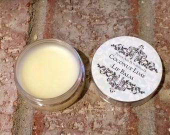 Coconut Lime Lip Balm, Natural Lip Balm, Shea Butter Lip Balm