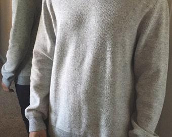 Gray Mens Sweater