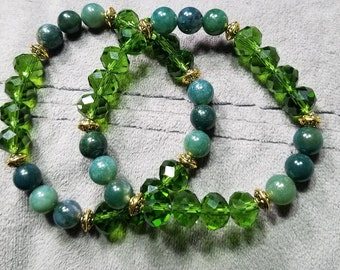 Faceted Rondelle Crystal Glass beads