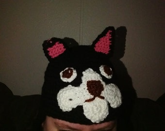 Boston Terrier Beanie Hat