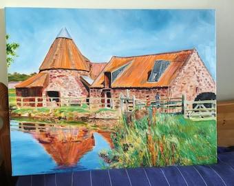 Preston Mill Oil Painting