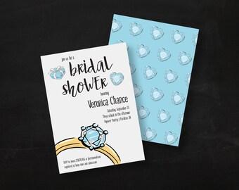 Engagement Ring Bridal Shower Invite