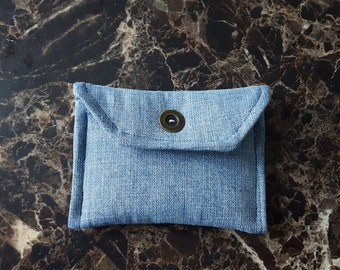 Denim Mini Wallet or Business Card Case
