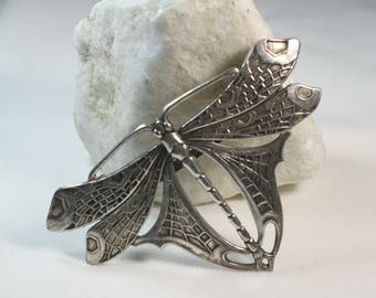 Sterling Silver Dragonfly Hair Clip