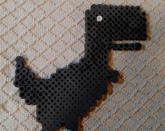 Google Chrome Dinosaur Perler Bead Sprite 5 Inch
