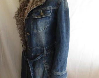 Coat vintage denim LEE COOPER blue size S to-56%