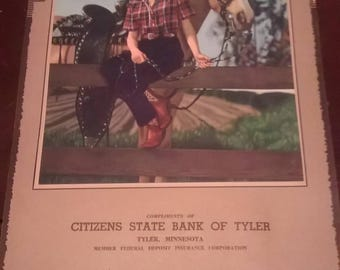 Citizens State Bank of Tyler MN 1948 Calendar