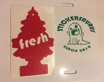 Fresh tree air freshener decal