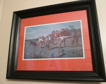 Snap the Whip by Winslow Homer (1872) Reprint Framed
