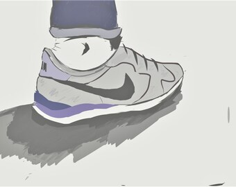 Nike Internationalist Illustration Art Print