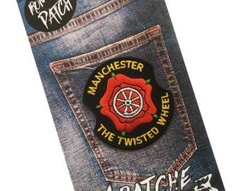 Manchester - The Twisted Wheel Embroidered Iron On Patch