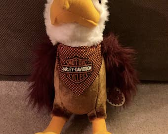 Harley Davidson Plush Stuffed Eagle Retired 1998 With Tag 18in
