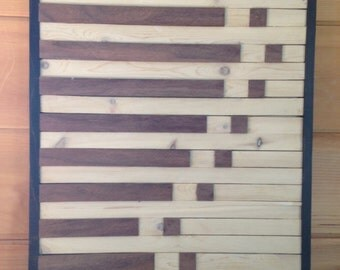 Rustic Wood Quilt Modern Stripes
