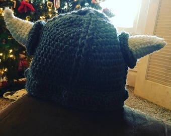 Baby Viking Hat NO BEARD, Crochet Baby Viking Hat, Viking Hat, Viking helmet, Adult Viking Hat