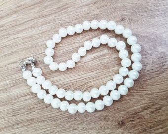 Pearl necklace Bridal beige necklace Ivory Pearl Necklaces wedding necklace statement necklace