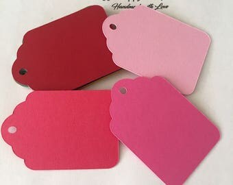 Tags / Favor Tags / Candy Bar Tags / Price Tags / Gift tags / Decorative tags / Wedding Tags /Labels / Red tags / Pink tags/Light pink tags