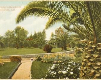 Vintage Postcard - A.K. Smiley Residence Redlands, Cal