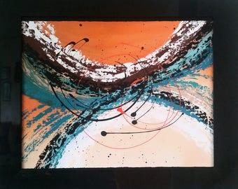 Wall Art, Original Painting, Abstract art, framed painting
