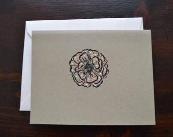 Blank Handmade Flower Card