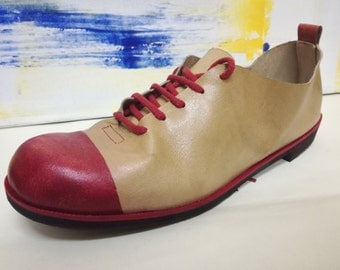 handcrafted shoes: oxfords painted