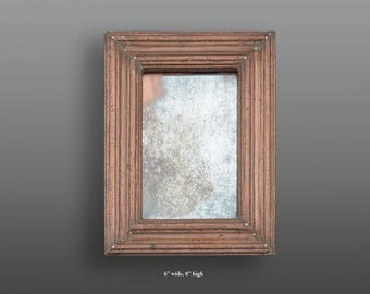 Vintage copper frame with mirror