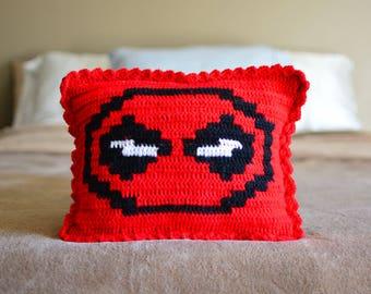 Crocheted Deadpool Pillow