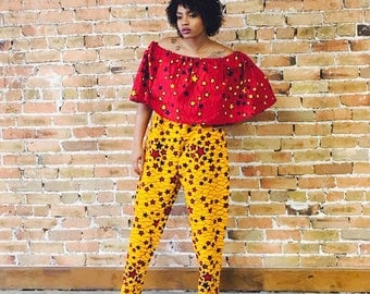 Color block Ankara Jumpsuit