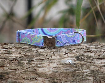 "Our ""Purple Swirl"" Fabric Collar"